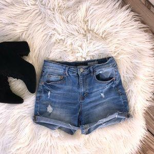 {Aeropostale} High Waist Midi Shorts